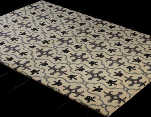 New stylish machine made polyester decorative floor carpets