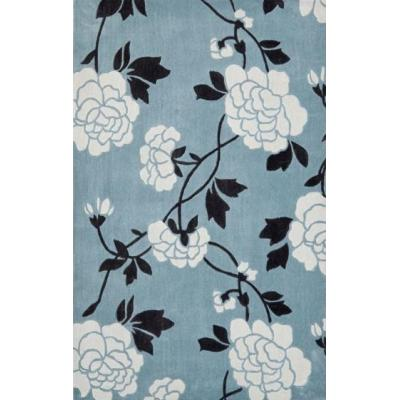 Customized high quality machine made polyester flower pattren carpets