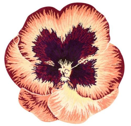 Handtufted 100% polyester shaggy petals free form rugs for decoration