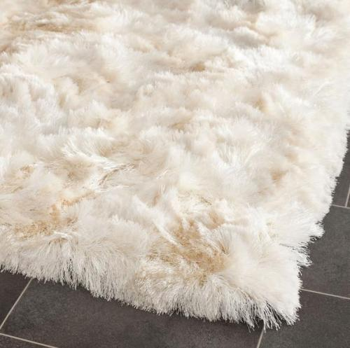High quality handtufted polyester 150D silk shaggy carpets for livingroom