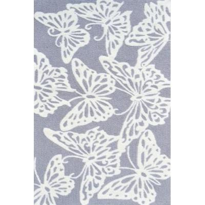 Machine made 100% polyester multi butterfly gray area rugs for room decoration