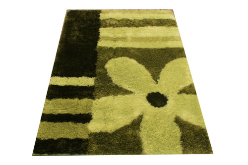flower design colorful round floor carpet for home use