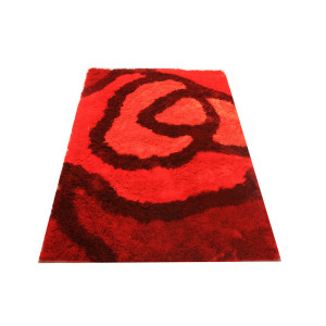 Home textile polyester tufted flower design carpet for living room