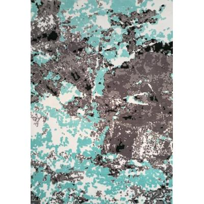High quality machine made 100% polyester abstract style carpets