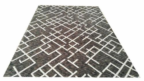 Hot selling machine made polyester space-dyed floor carpets