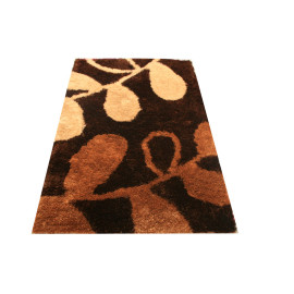 Flower design polyester shaggy carpets and rugs