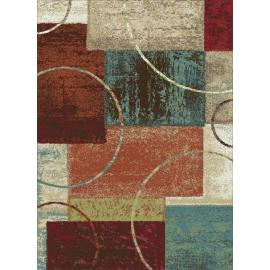 Modern design polyester multicolour decorative carpets for room