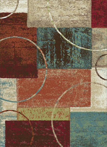 Modern design polyester multicolour decorative carpets for room