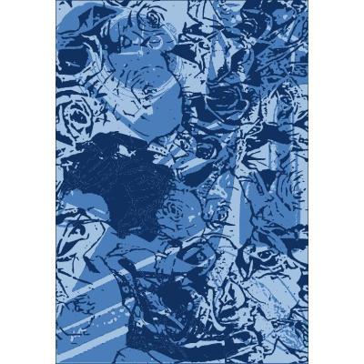New design machine made polyester blue floor carpet tiles