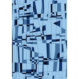 Geometric design machine made 100% polyester anti-slip carpets