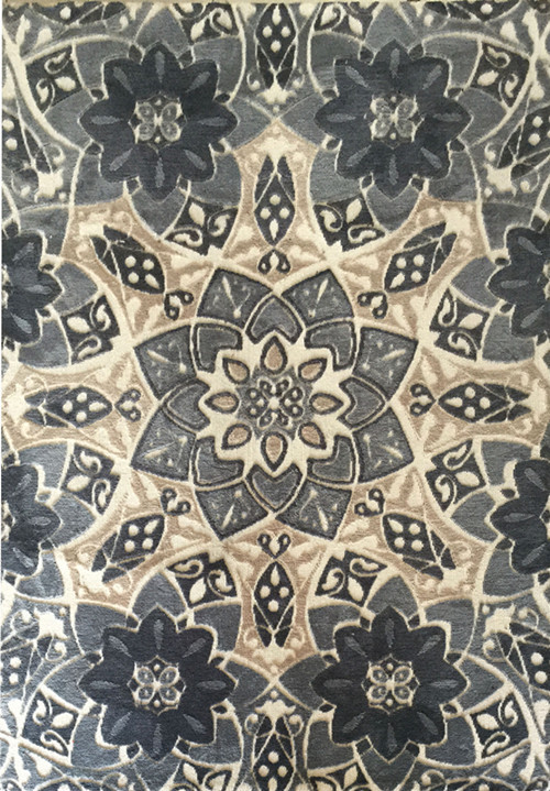 wholesale high quality polyester flower design carpet