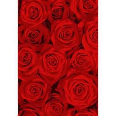 Modern design machine made polyester red flower pattern carpets