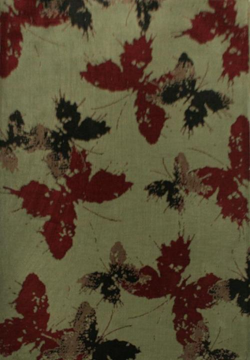 Modern design machine made microfiber buterfly pattern carpets for decoration