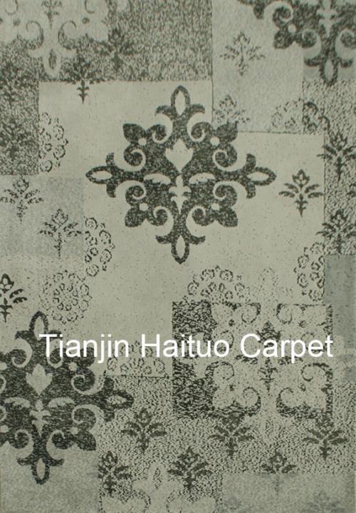 Classical design machine made polyester microfiber carpets for livingroom