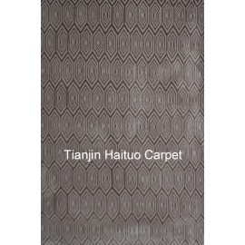 Mahine made 100% polyester area carpets for wholesale