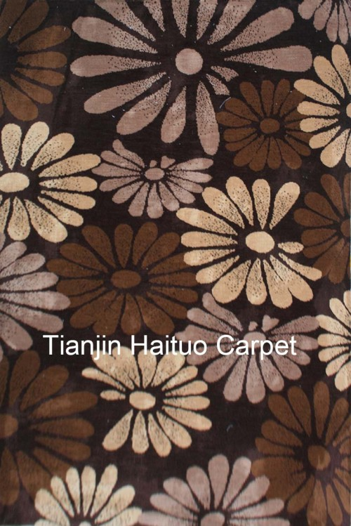 High quality machine made polyester flower pattern carpets for livingroom