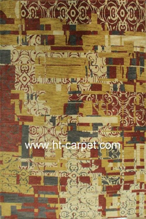 New stylish machine made soft microfiber carpet for decoration