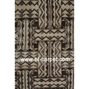 Machine made polyester microfiber area carpets for room