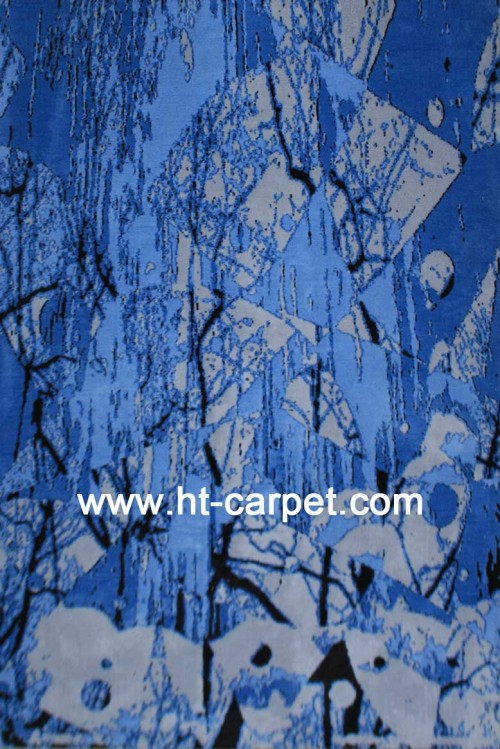 Popular machine made polyester rugs for decoration