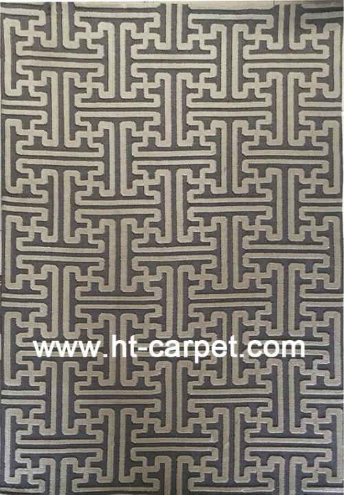 High quality machine made microfiber decorative carpets