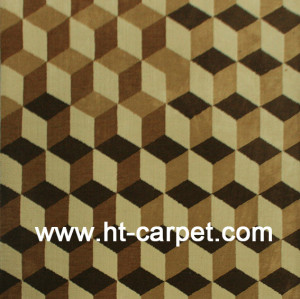 Modern design machine made polyester decorative carpet