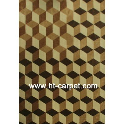 Modern design machine made polyester decorative carpet
