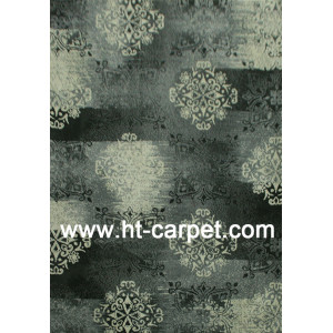 Classical style machine tufted microfiber area carpets