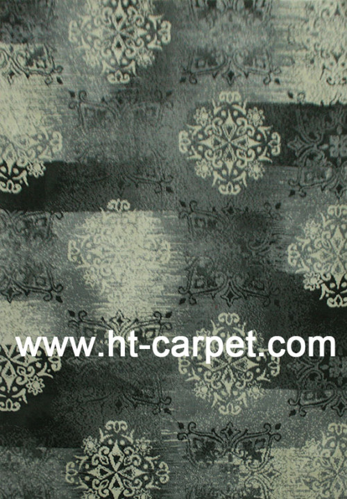Classical style machine tufted microfiber area carpets