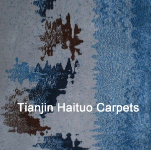 Machine made polyester microfiber carpets for home