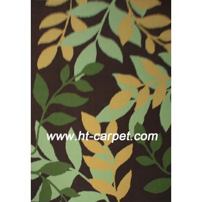 Leaves design machine made microfiber area rugs