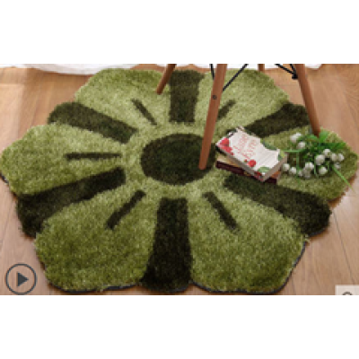 high quality hand tufted 1200D polyester shaggy flower carpets for home use from Tianjin China