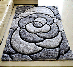 Custom polyester Flower Shaped carpets and rugs with 3d design