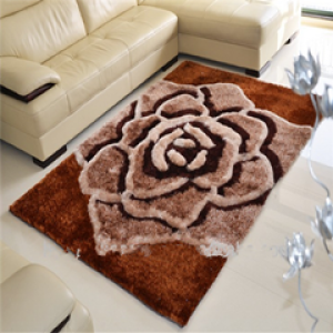 Custom polyester indoor Flower Shaped carpets and rugs with 3d design