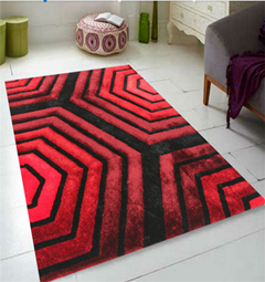 modern design stretch yarn and polyester silk carpet rug