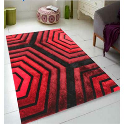 modern design stretch yarn and polyester silk carpet rug
