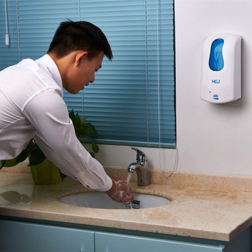 Universal Foam Soap Dispenser for Offices, Schools, Warehouses, Food Service Facilities, and Manufacturing Plants, Power with Cord or Batteries