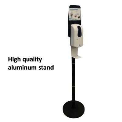 Aluminum soap dispenser floor stand