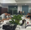 Weekly meeting for dispenser with wireless signal transfer