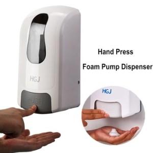 1 liter plastic manual hand soap dispenser with adjustable dose