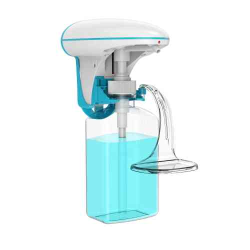 Adjustable dose wall mounted top dispensing automatic soap dispenser