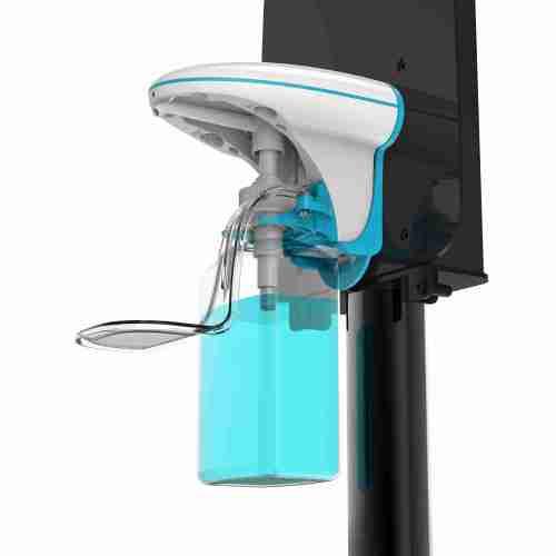 Liquid foam spray automatic liquid soap dispenser