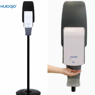 Aluminum floor stand for hand sanitizer dispenser with automatic dispenser floor standing