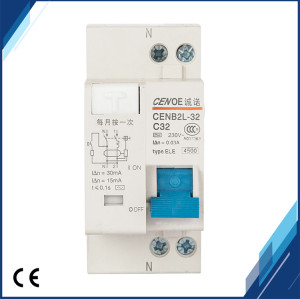 DPNL(CENB2L-32)1P+N 32A 230V~ 50HZ/60HZ Residual current Circuit breaker with over current and Leakage protection
