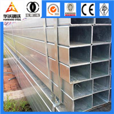 square steel tube hot dip galvanized steel pipe Q345