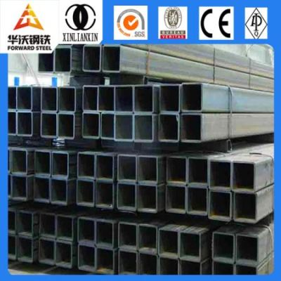 SS400 Q235 Welded Square and Rectangular Structure Mild Steel Pipe