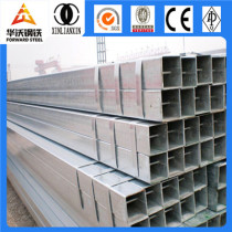 Q345 Hot Rolled 70x70mm Square Galvanized Steel Pipe / Tube
