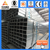 Building material Q235 galvanized square & rectangular steel pipe