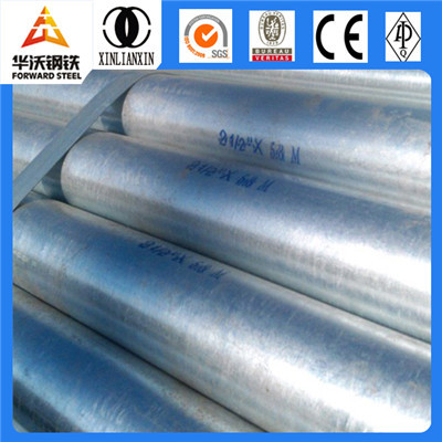 Galvanized Round Steel Pipe with Threaded Ends for Scaffold Use