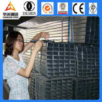 Buildings materials tubes BS1387 galvanized square steel pipe