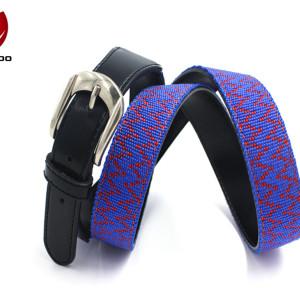 2017 Hot Sale Genuine Leather Needlepoint Custom Webbing Belt